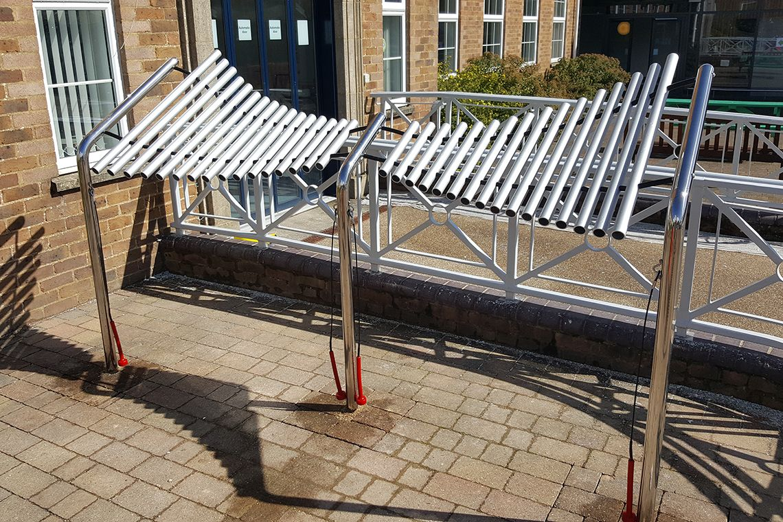 Large Outdoor Metallophone in Treloars School playground